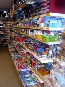 Školní a kancelářské potřeby, tiskopisy, hračky