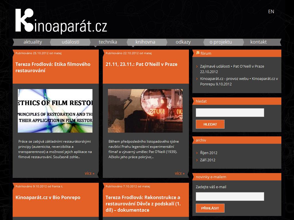 Kinoaparát – Stránky o klasické filmové technologii a filmovém umění