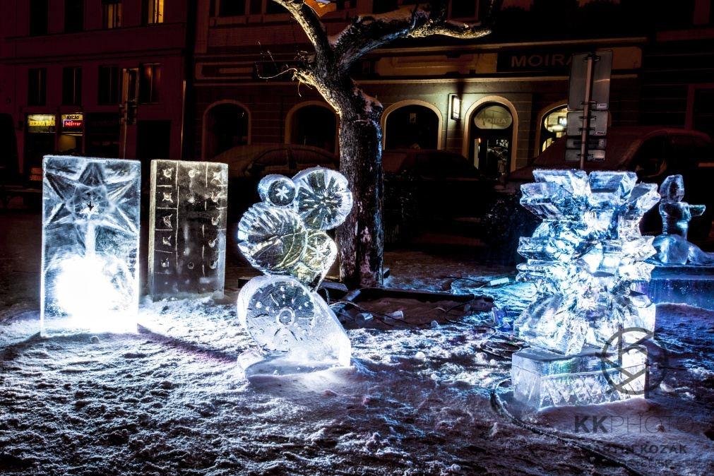 Fotil Martin: Ledové sochy v Jindřichově Hradci 2014