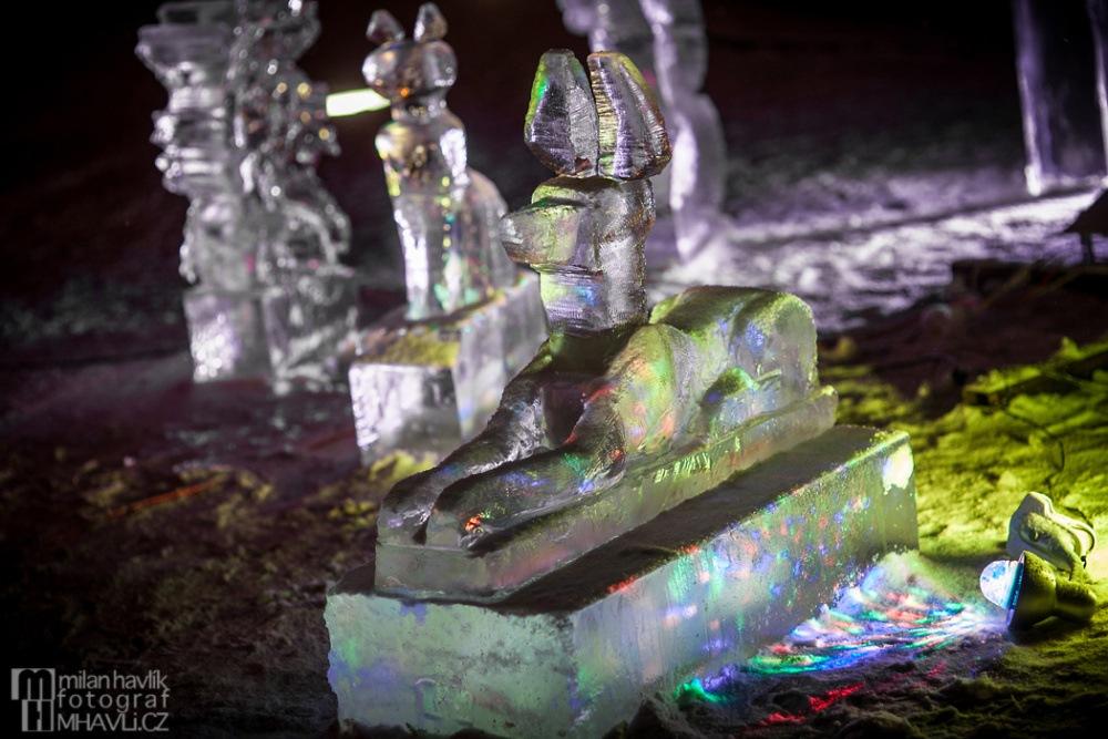 Objektivem Milana Havlíka: Ledové sochy a fireshow