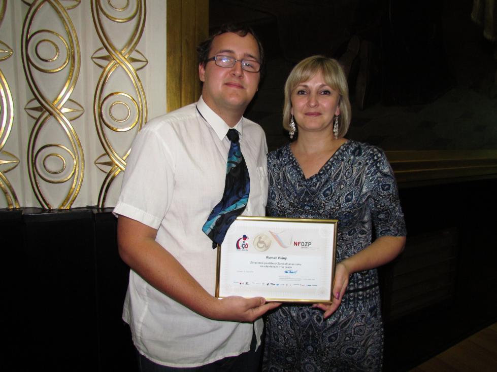 Roman Pišný byl oceněný jako Zdravotně postižený zaměstnanec roku 2014