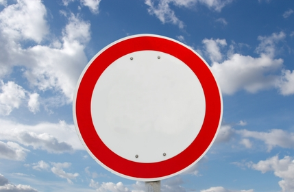Traffic sign zákiaz vjezdu