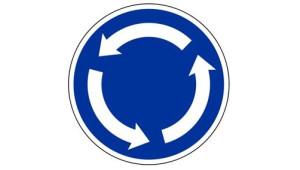 značka kruhový objezd