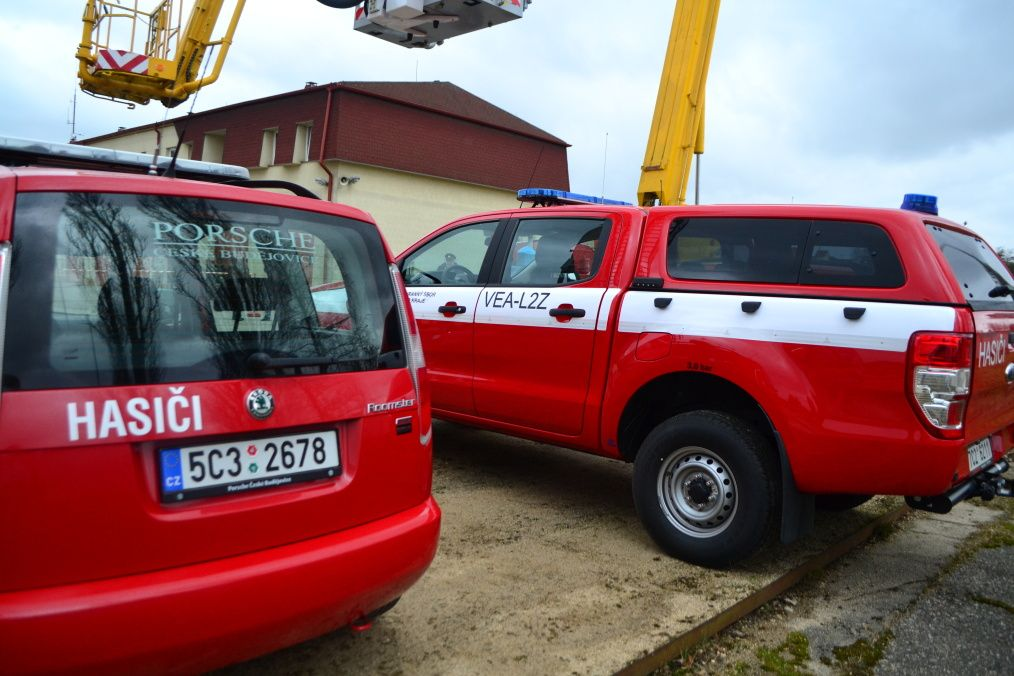 Fotila Amálie: Slavnostní předání nové techniky hradeckým hasičům