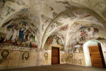 Expozice sálů zámku Žirovnice sgotickými nástěnnými freskami z 15. století
