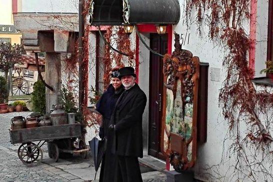 Natáčení historického filmu v Jindřichově Hradci