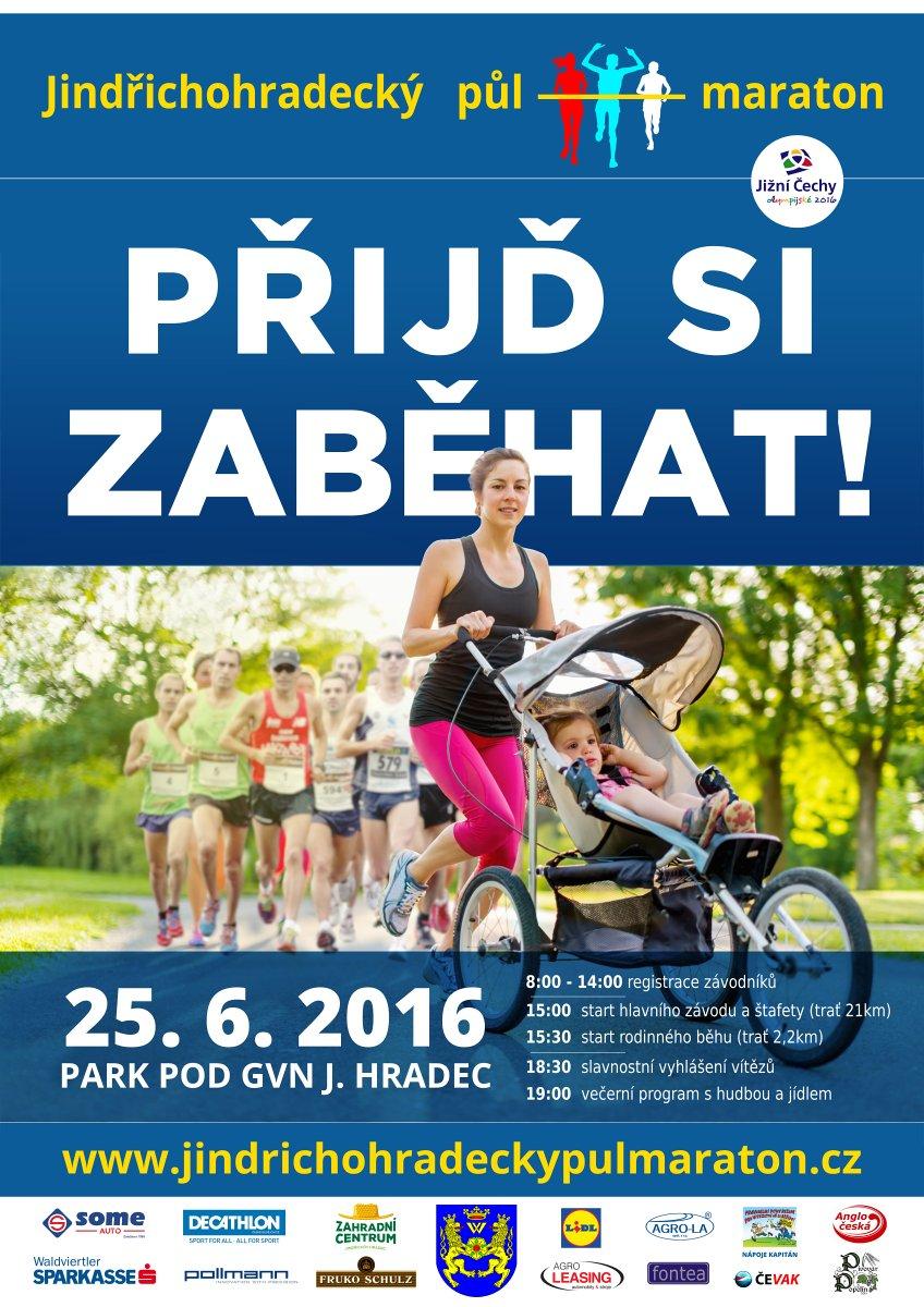 Součástí sobotního půlmaratónu je také Rodinný běh a soutěže dětí
