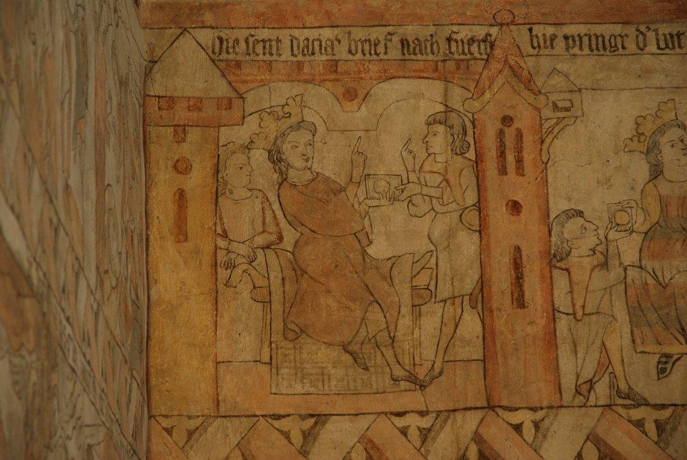gotický palác JH - detail legendy 1