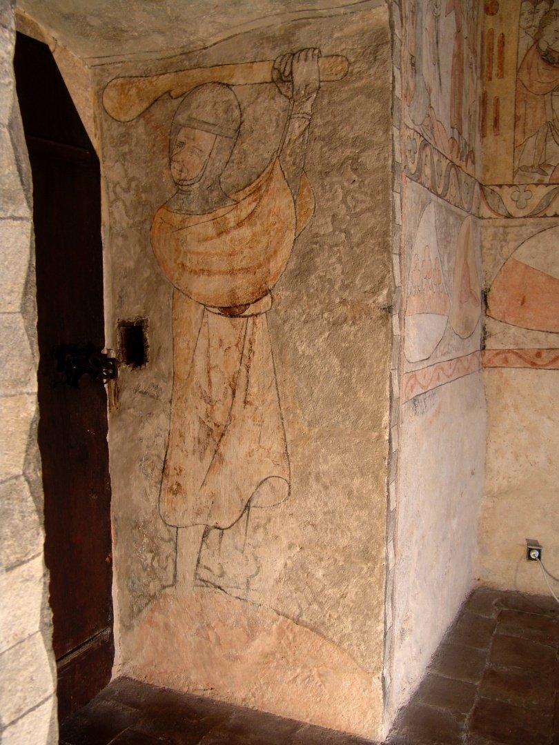 gotický palác jh - detail strážného u vstupu