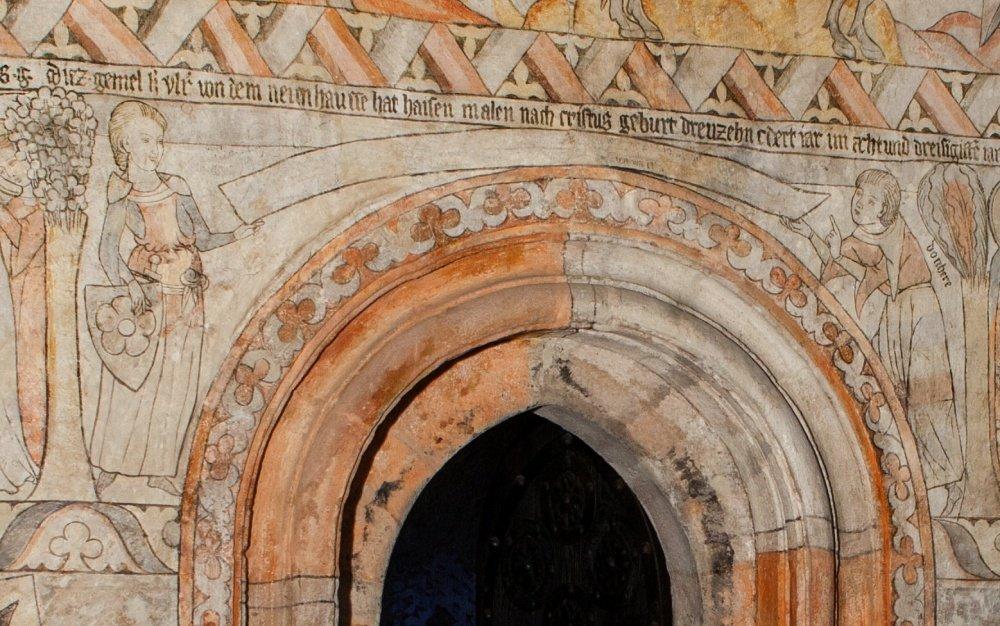 gotický palác jh - legenda - detail s oldřichem