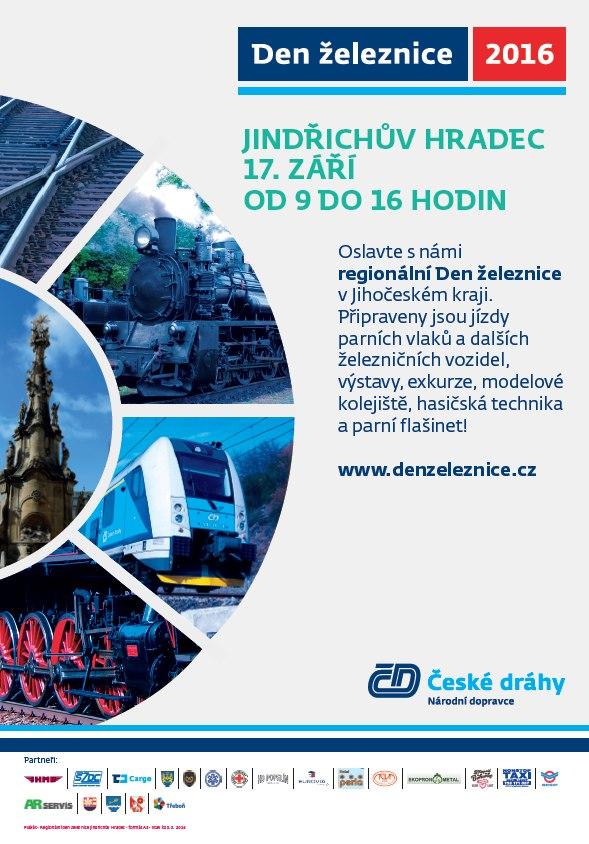 Nejsilnější parní lokomotiva přijede na Den železnice do Jindřichova Hradce