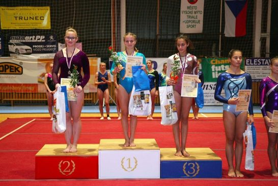 Stříbro pro gymnastku Barboru Kešnarovou