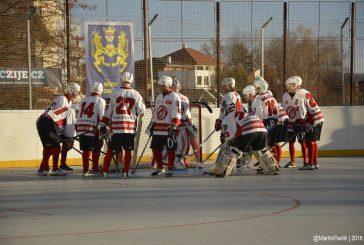 Jindřichohradečtí hokejbalisté vypadli ve čtvrtfinále