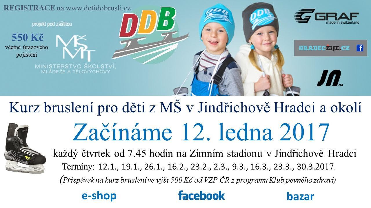 Kurz bruslení pro děti z mateřských škol v J. Hradci a okolí