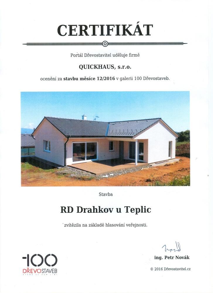 Rodinný dům od společnosti QUICKHAUS se stal dřevostavbou měsíce