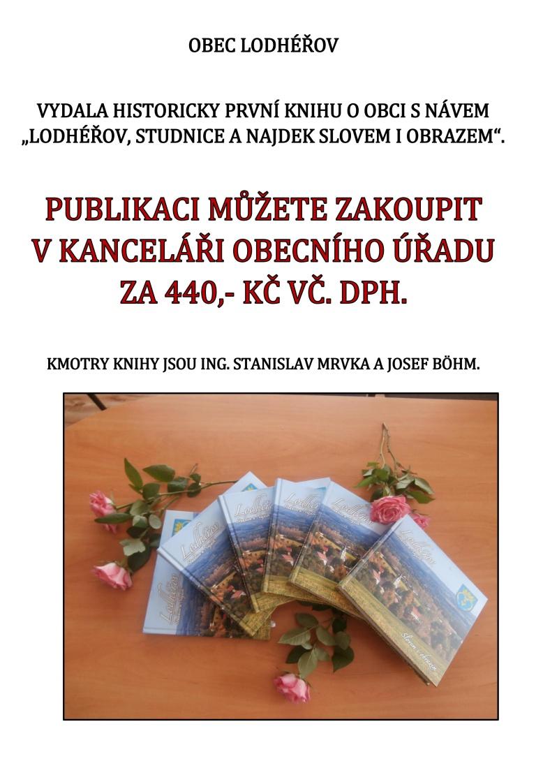 Kniha o obci Lodhéřov - prodej