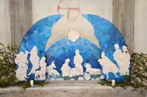 Mozaikový betlém Jindřicha Vydry v muzeu