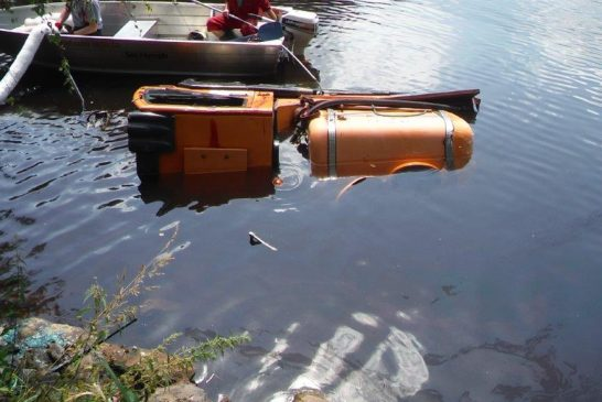 Hasiči: Multikára sjela do rybníku Polívka