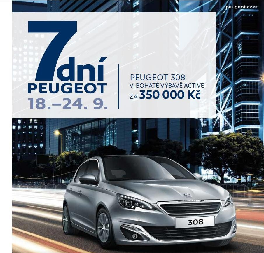 UNI AUTA: 6 skvěle vybavených vozů po dobu 7 dní Peugeot