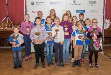 Na vyhlášení Jihočeského poháru v triatlonu měl klub TCV J. Hradec čtrnáct zástupců