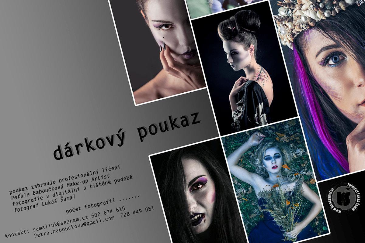 Poukaz na fotografování s profesionálním nalíčením jako dárek pod stromeček - Lukáš Šamal