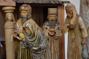 Vánoce u svatého Jána - Jiří Bürger. Betlémy. Dřevořezby.