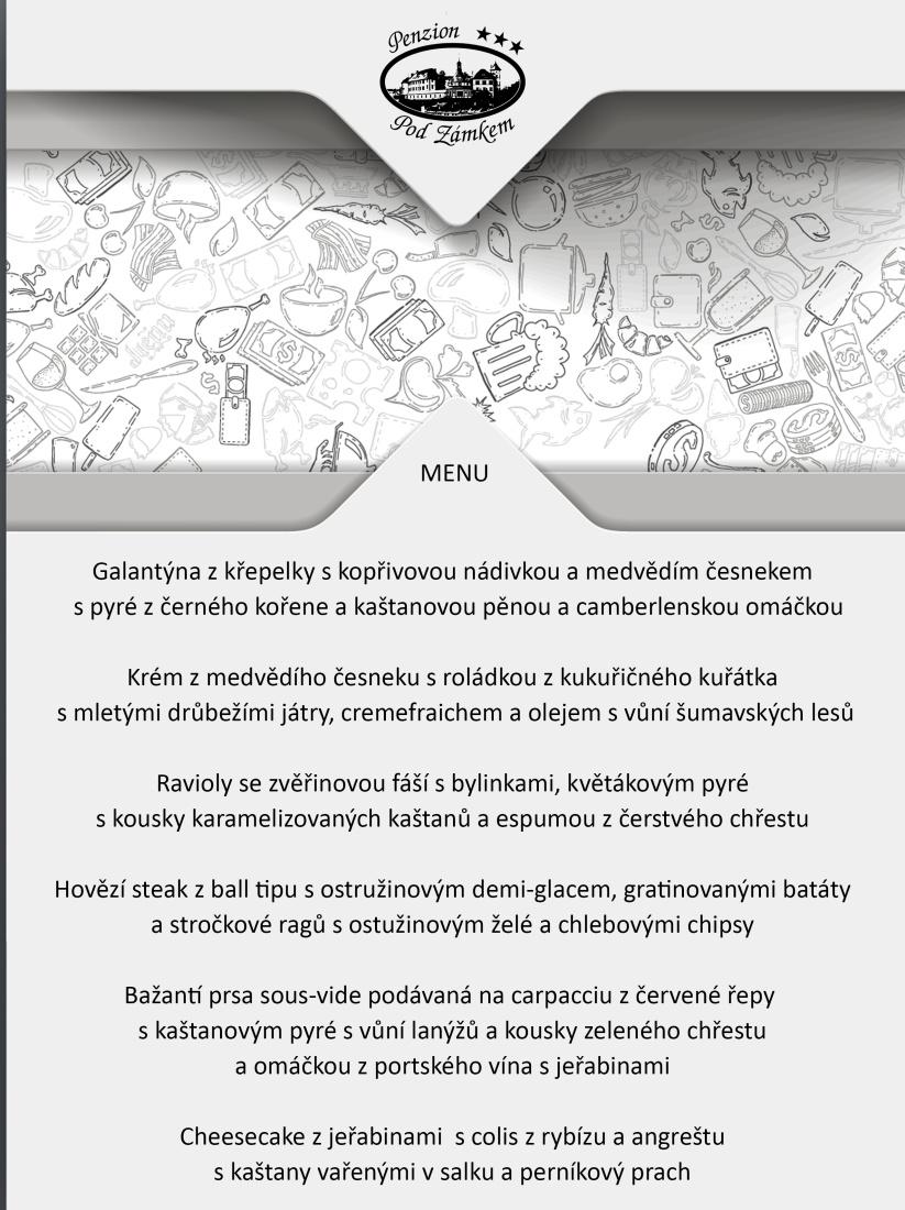 Degustační menu v restauraci Pod Zámkem