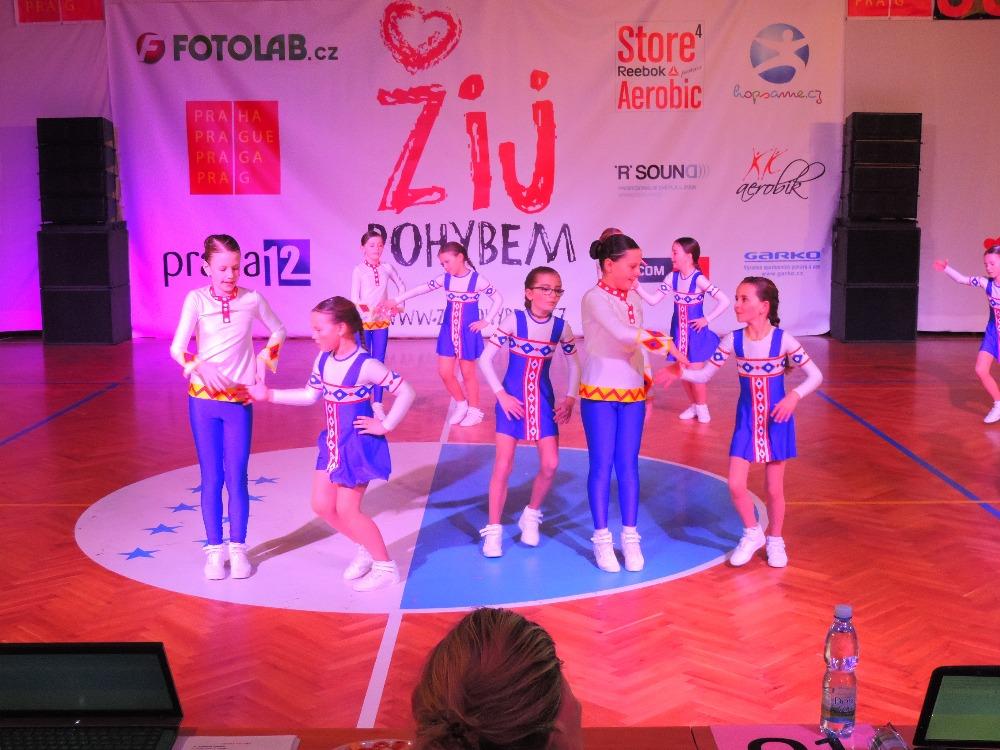 Úspěchy Aerobic teamu MTK na ligových závodech v Praze