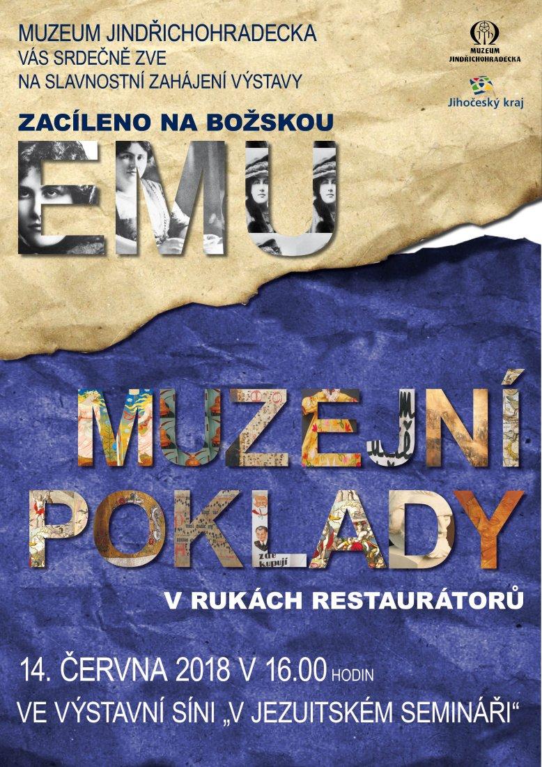 Výstavy představí Muzejní poklady vrukou restaurátorů a zacílí na božskou Emu