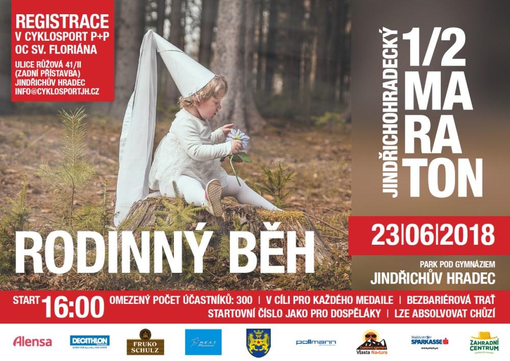 Tratě pro nejmenší a mládež na Jindřichohradeckém půlmaratonu
