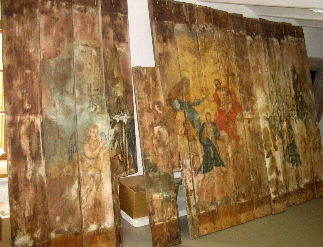 Barokní záklopový strop v Muzeu Jindřichohradecka