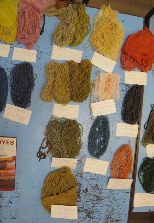 Barvení textilních vláken přírodními organickými barvivy - Přednáška Ing. Aleny Samohýlové