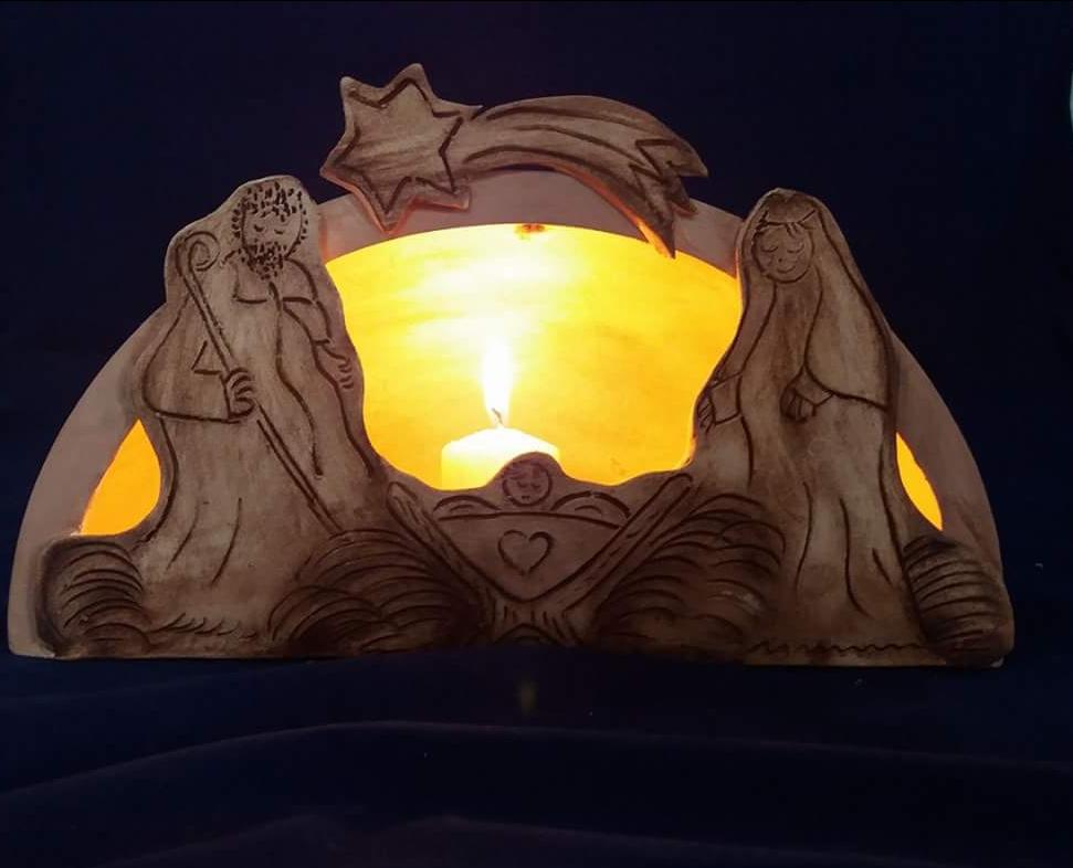 Vánoční dekorace z Jarošovské keramiky