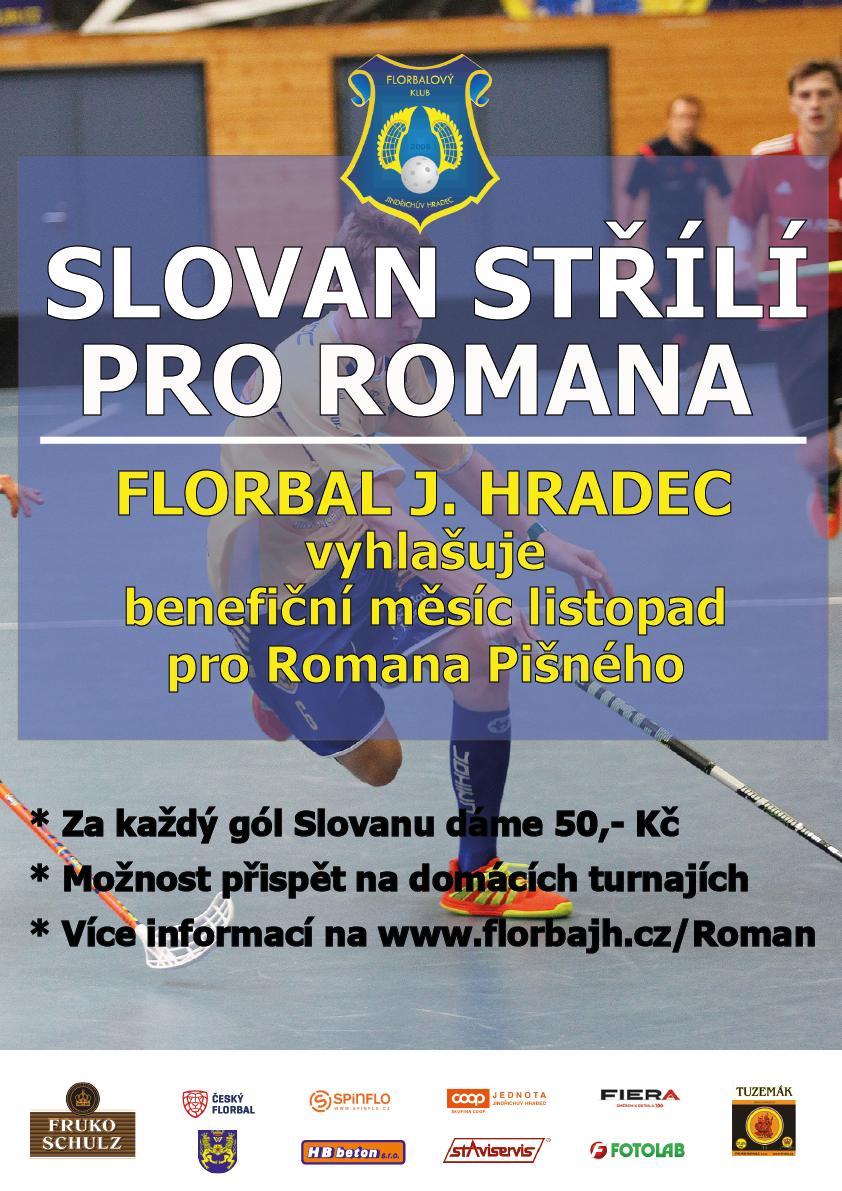 Slovan střílí pro Romana aneb benefiční měsíc listopad