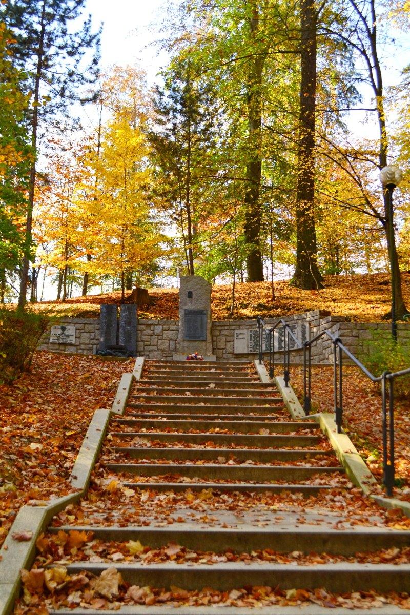 Fotila Amalie: Rijen v Jindrichove Hradci pomník
