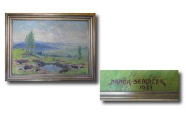 Obraz Františka Daňka-Sedláčka (Ze sbírek Městského muzea v Kamenici nad Lipou #5)