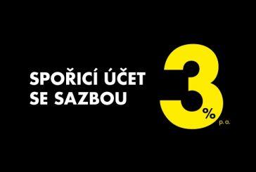 Spořící účet se sazbou 3% v Raiffeisenbank Jindřichův Hradec