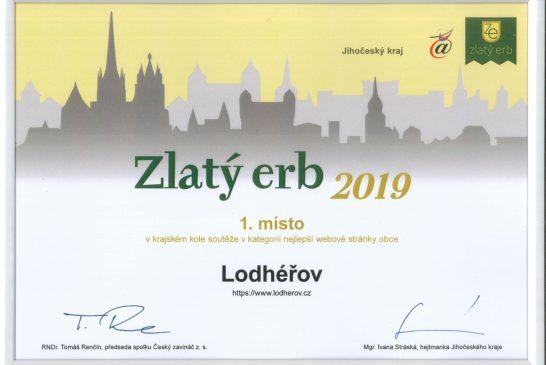 Zlatý Erb 2019 - Lodhéřov