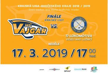 Hokejové finále: HC Vajgar vyzve v odvetě TJ Lokomotivu Veselí nad Lužnicí
