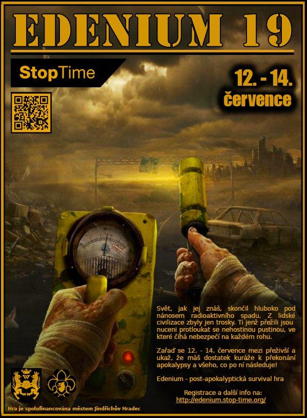 StopTime pořádá hru o přežití zasazená do post-apokalyptického světa Edenium 19