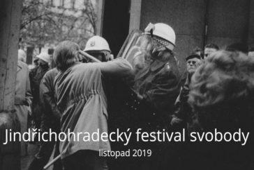 Třicáté výročí Sametové revoluce připomene Jindřichohradecký festival svobody