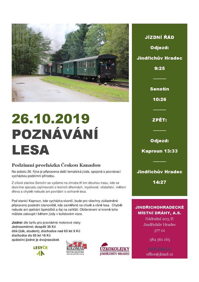 Úzkokolejka v sobotu vyrazí na Poznávání lesa s Lesy ČR