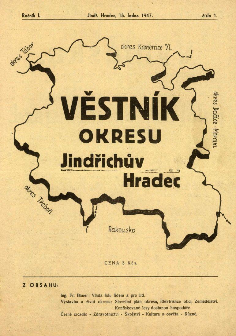Studentský časopis Jeřáby z roku 1937
