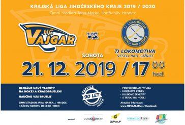 HC Vajgar vyzve před Vánoci TJ Lokomotivu Veselí nad Lužnicí