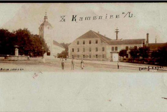 Foto: Archiv pivovaru Kamenice nad Lipou 1899 pohled pivovar