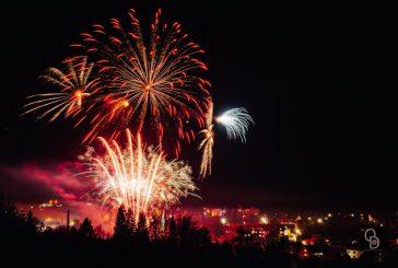 Novoroční ohňostroj ve Studené (foto: Ondřej Dohnal)