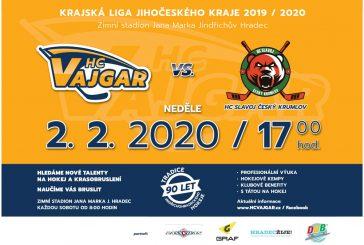 Pozvánka na hokej: Vajgar vyzve na domácím ledě HC Slavoj Český Krumlov