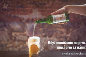 Když nemůžeme na pivo, musí pivo za námi! (Pivovar Kamenice)