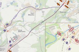 Uzavření železničního přejezdu U Haláčka – Dolní Skrýchov