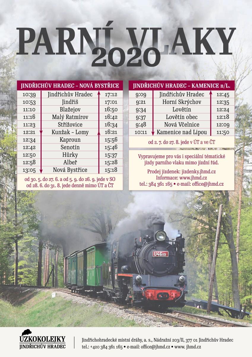 JHMD - Jindřichohradecké úzkokolejky - Parní vlak